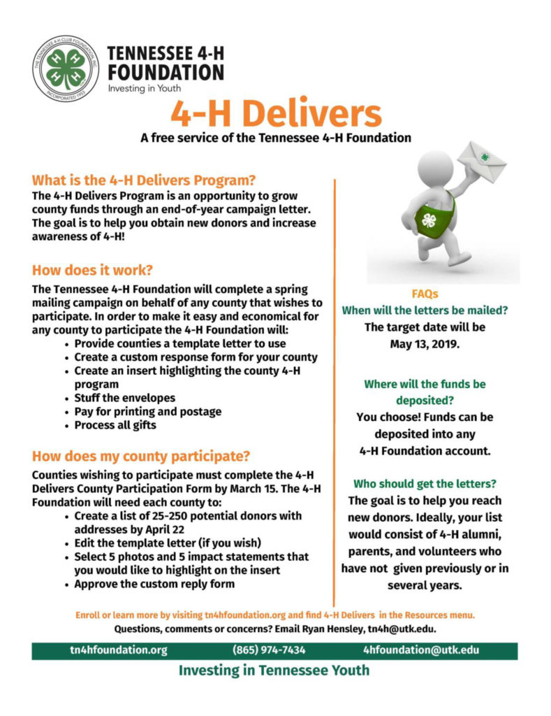 4-H Delivers - 2019