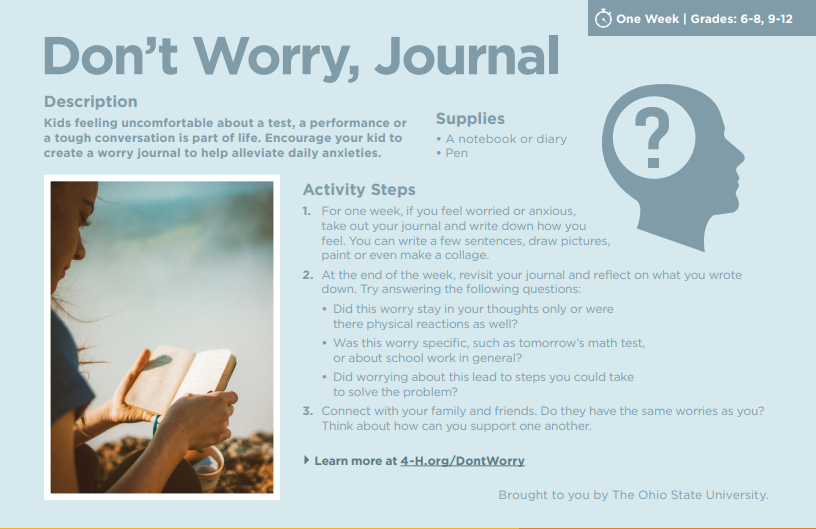 Don't Worry Journal