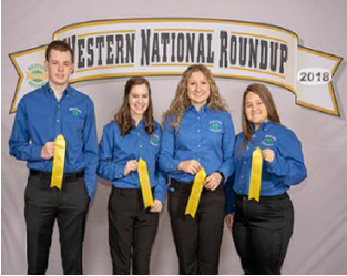 FCS Bowl: 5th place team: Layla Amons, Zachary Goad, Allye Morgan, Cryslyn Rittenberry