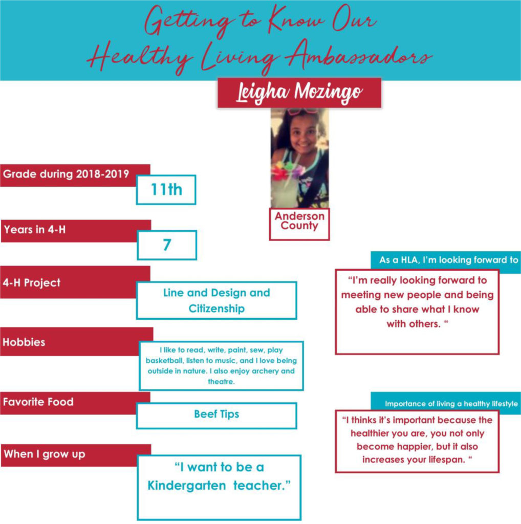 Getting to Know Our Healthy Living Ambassadors: Ligha Mozingo, Anderson County