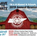 Tennessee 4-H Alumni & Friends 2019 Annual Reunion