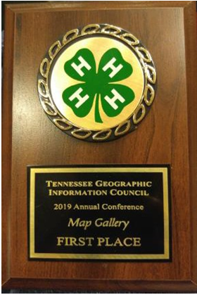 Tennessee Geographic Council 2019 Annual Conference Map Gallery First Place