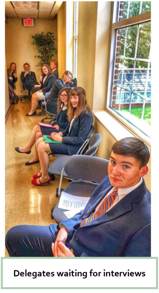 2018 Roundup - Delegates waiting for interviews