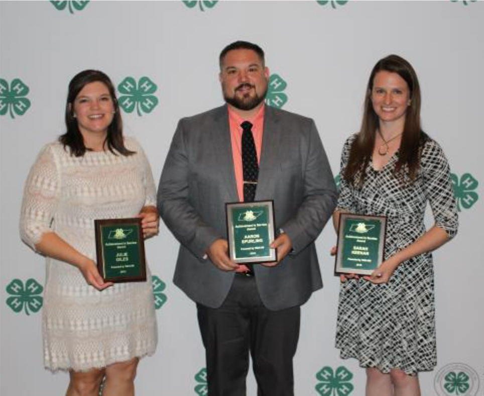 2018 TAE4-HW Service Award Winners - Achievement in Service Sarah Keenan, Maury County Mary Beth Antuntes,Williamson County Julie Ann Giles, Marshall County Aaron Spurling, Rhea County