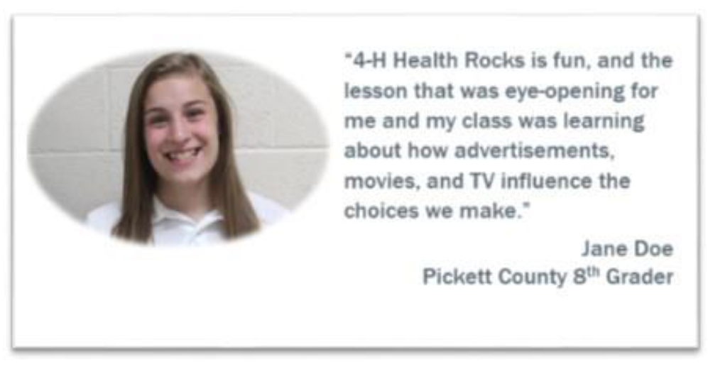 4-H Health Rocks