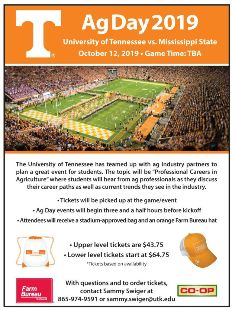 Ag Day 2019 - University of Tennessee vs. Mississippi State