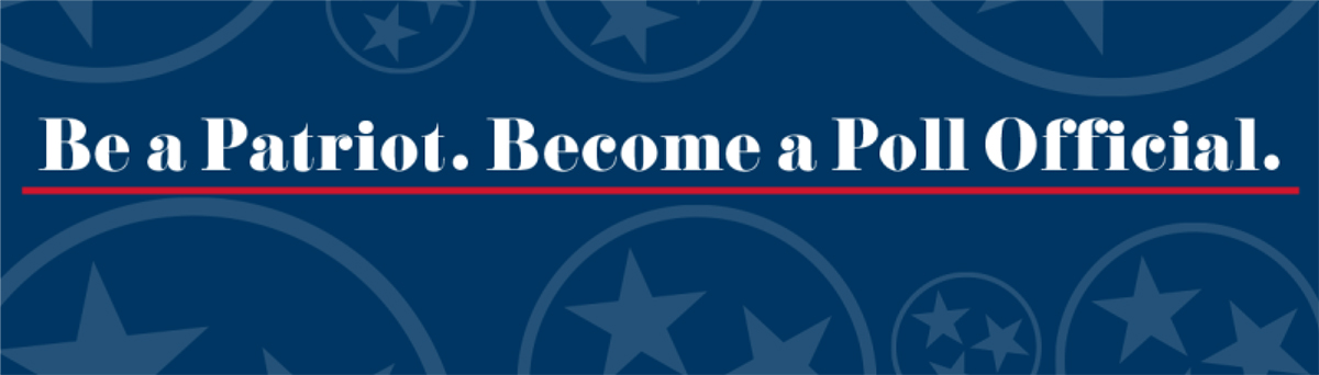 Be a Patriot.Become a Poll Official
