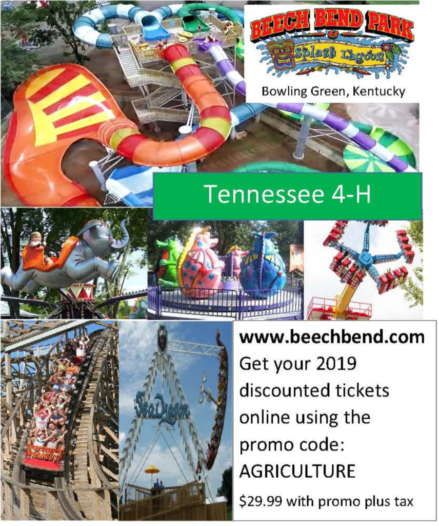 Beach Bend Park Discount for Tennessee 4-H