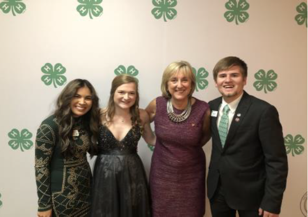 Chancellor Plowman attends the 4-H Roundup reception.