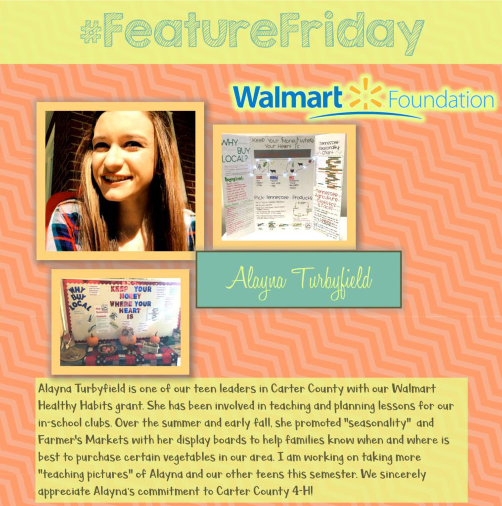 Feature Friday: Alayna Turbyfield, Carter County [Walmart Youth Choice: Youth Voice]