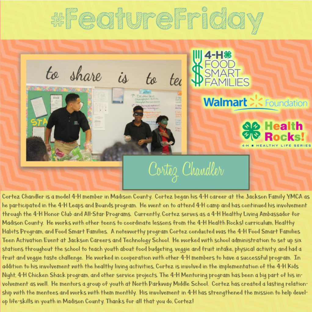 Feature Friday: Cortez Chandler, Madison County [Mutiple Grant Programs]