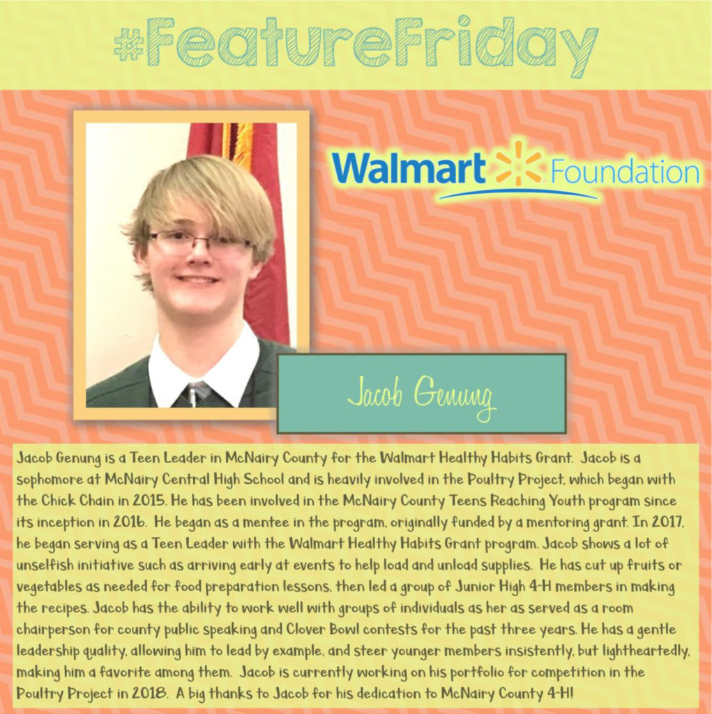 Feature Friday: Jacob Genung, McNairy County [Walmart Youth Choice: Youth Voice]
