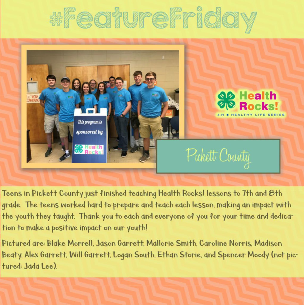 Feature Friday: Teens in Pickett County [Health Rocks!]