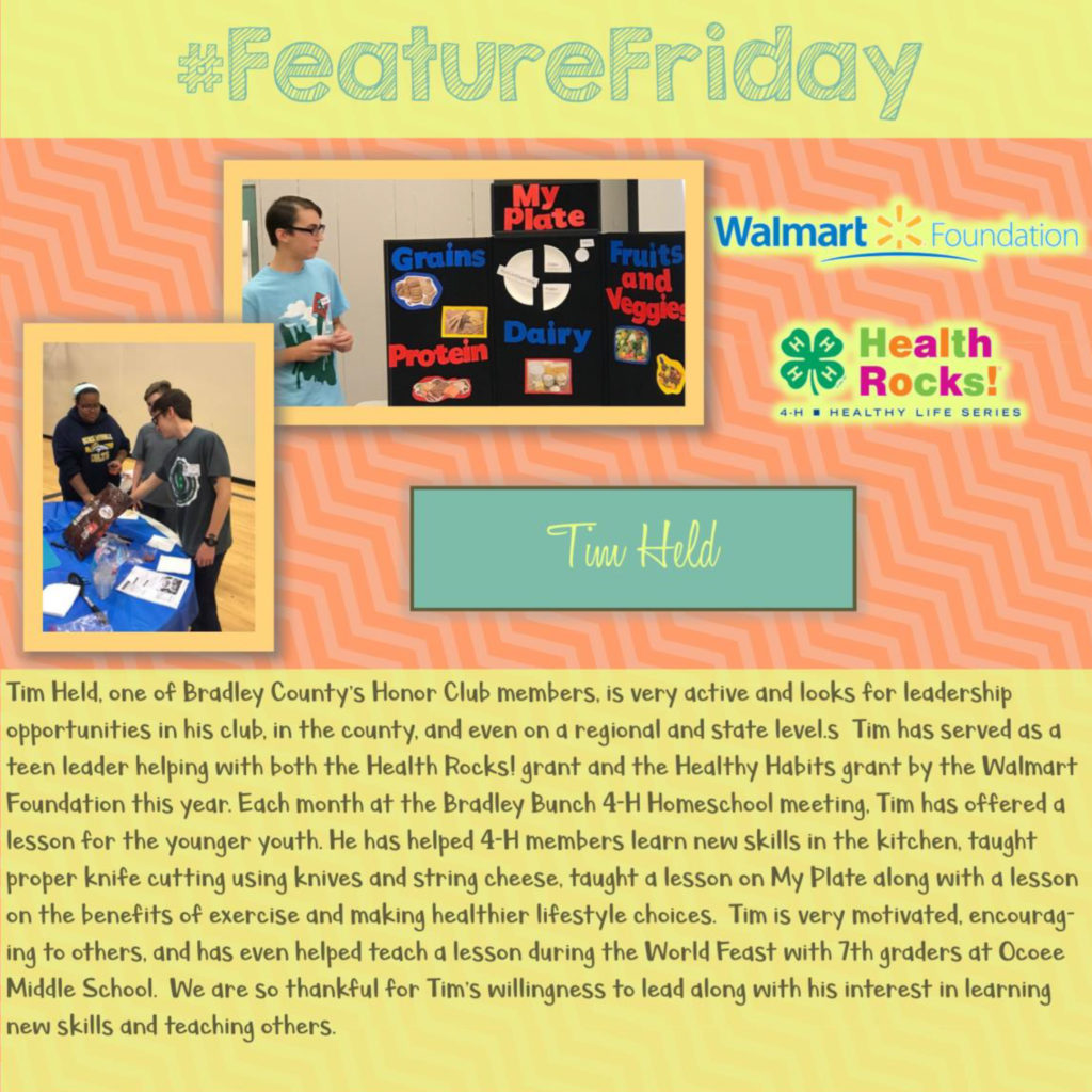 Feature Friday: Tim Held, Bradley County [Multiple Grant Programs]
