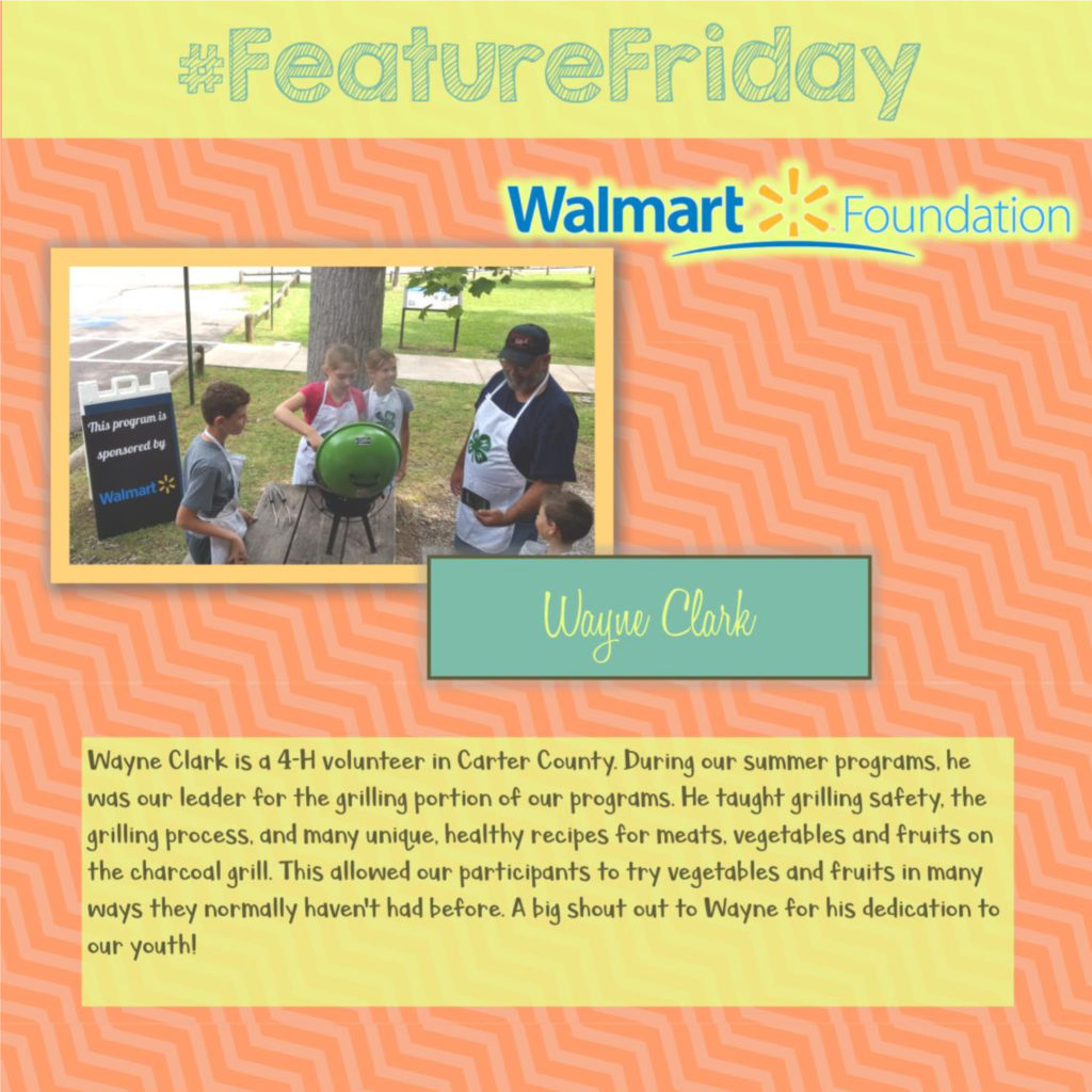 Feature Friday: Wayne Clark, Carter County [Walmart Youth Choice: Youth Voice]