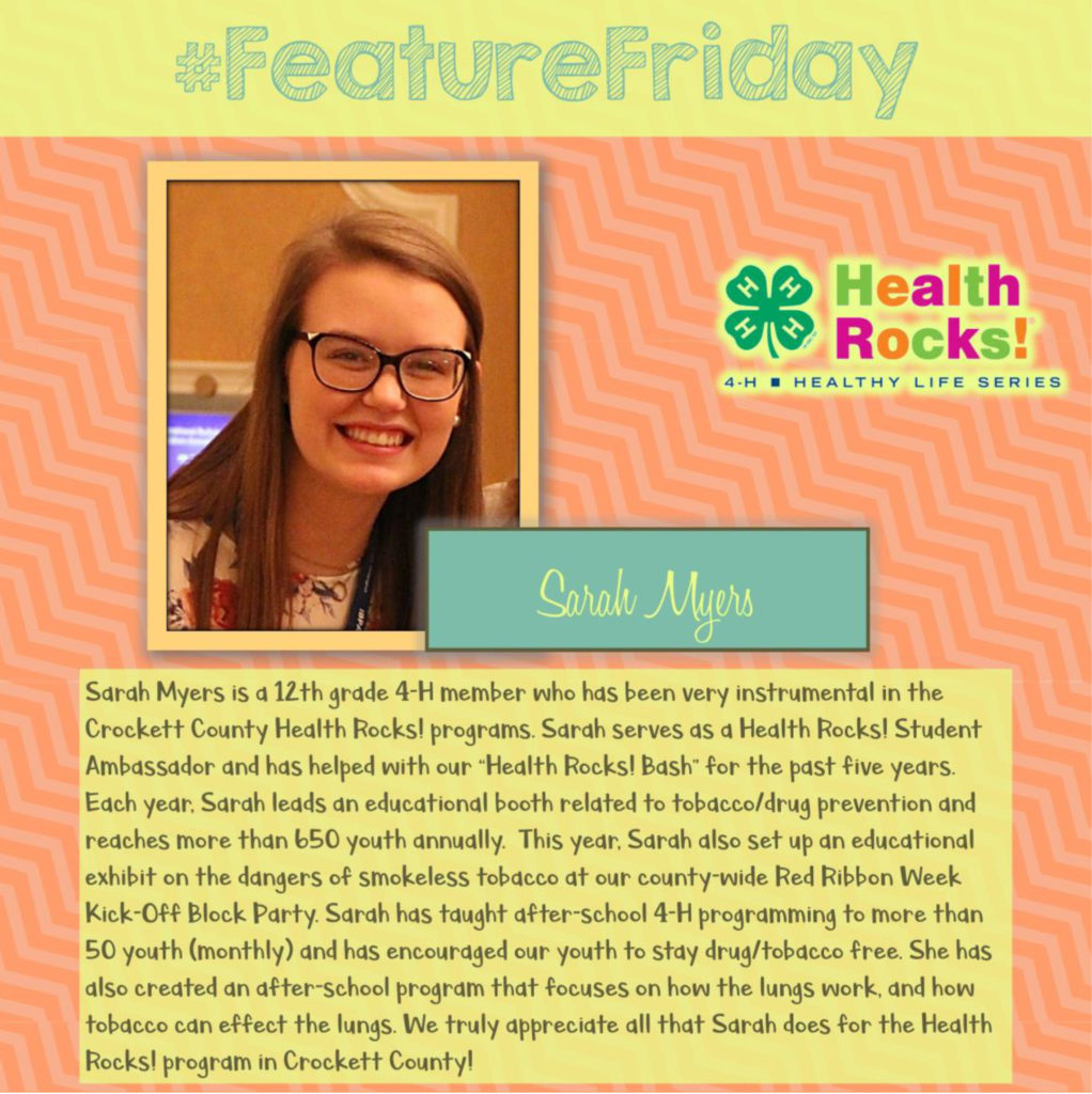Feature Friday - Sarah Myers