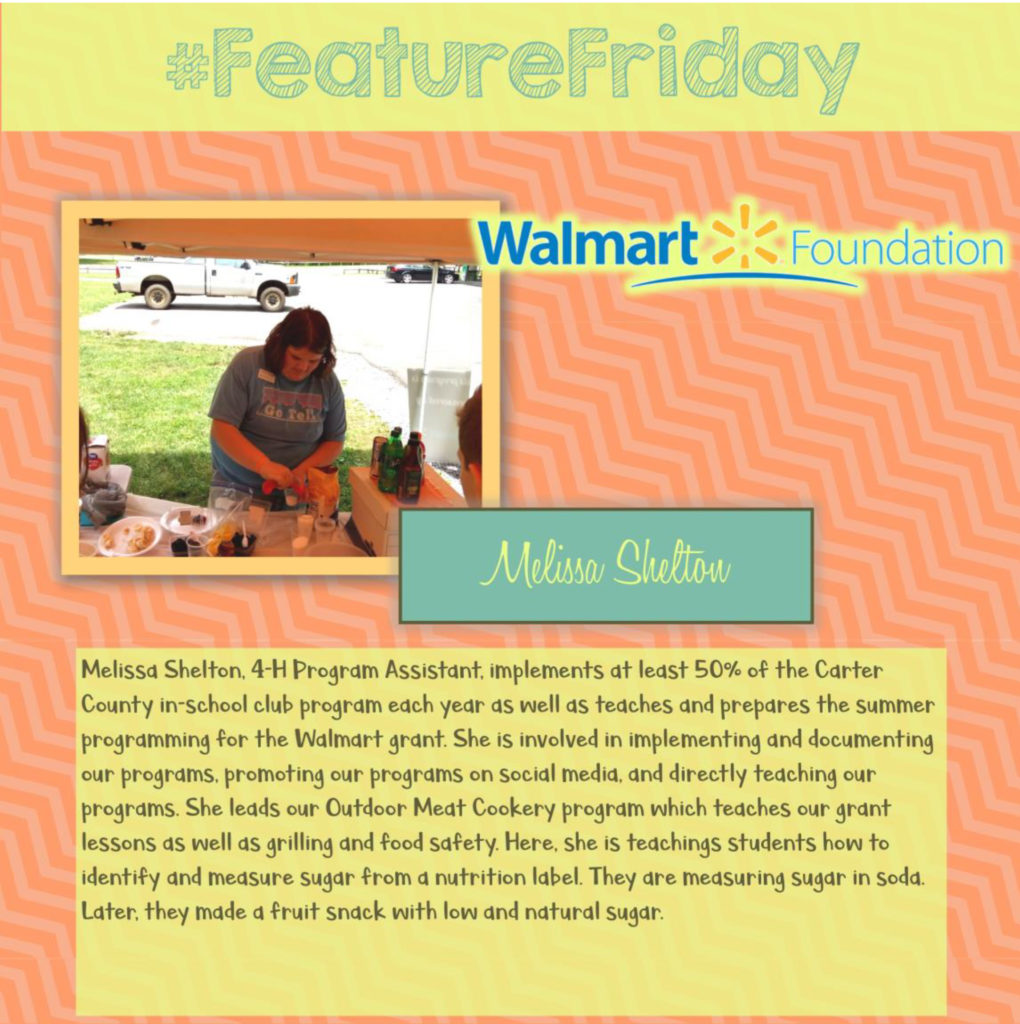 Feature Friday: Melissa Shelton, Carter County [Walmart Youth Choice: Youth Voice]