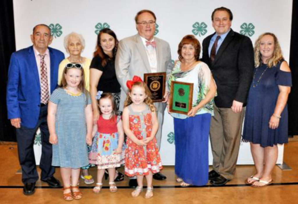 Hale Master 4-H Families Recognized - From back left. Jack and Pat Briley, Tawly McDonald, Kelly and Teressa McDonald Sr. Kelly McDonald Jr. Terri Dodd. Front left, Briley, Blakley, and Baliey Dodd.