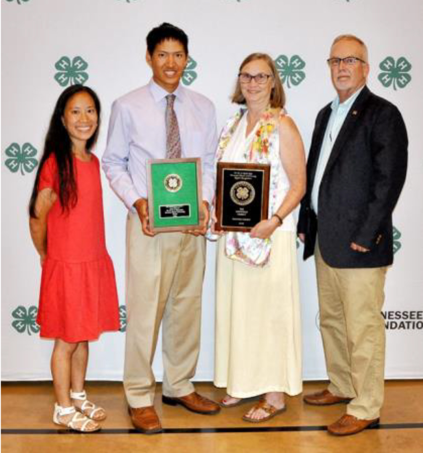 Hale Master 4-H Families Recognized - From L-R: Xiaodi, Bob, Laura and John Whitfield
