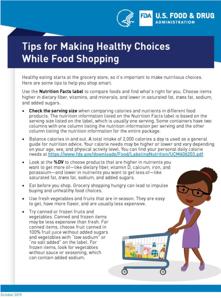Tips for Making Healthy Choices While Food Shopping