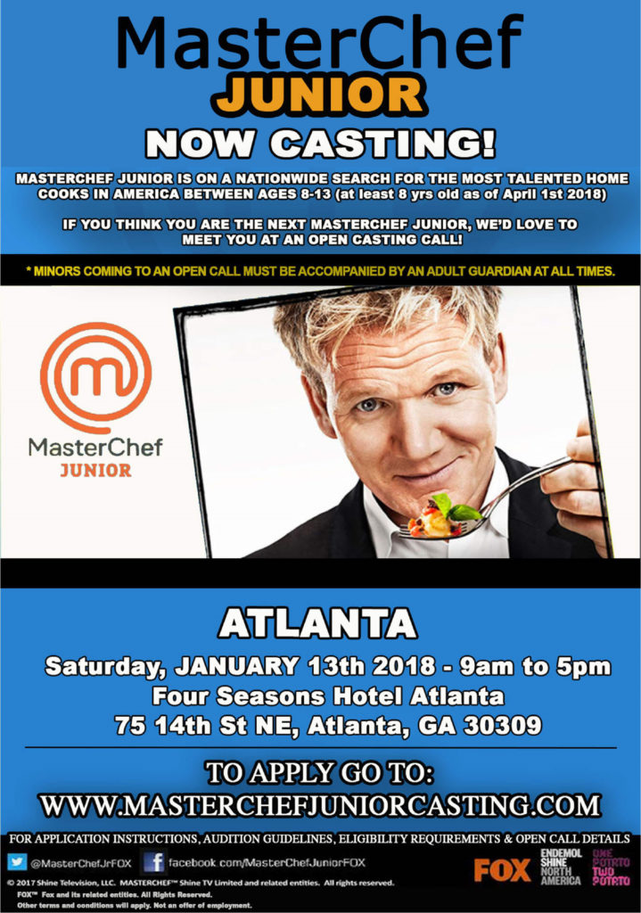 MasterChef Junior Now Casting 2018