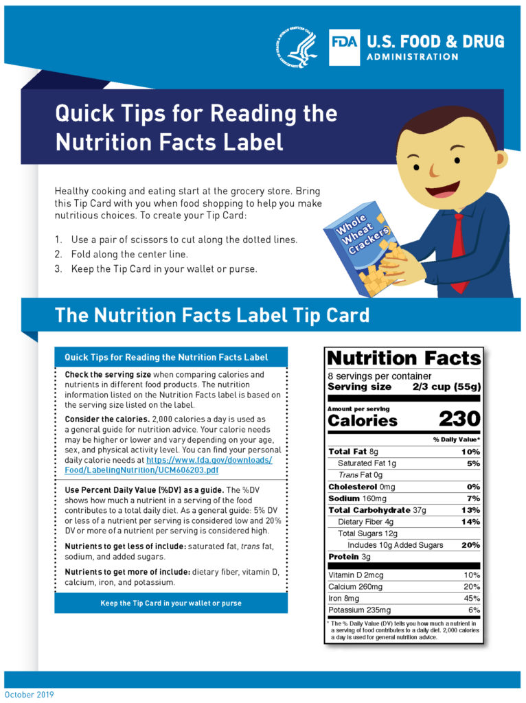 Quick Tips For Reading Nutrition Facts Label