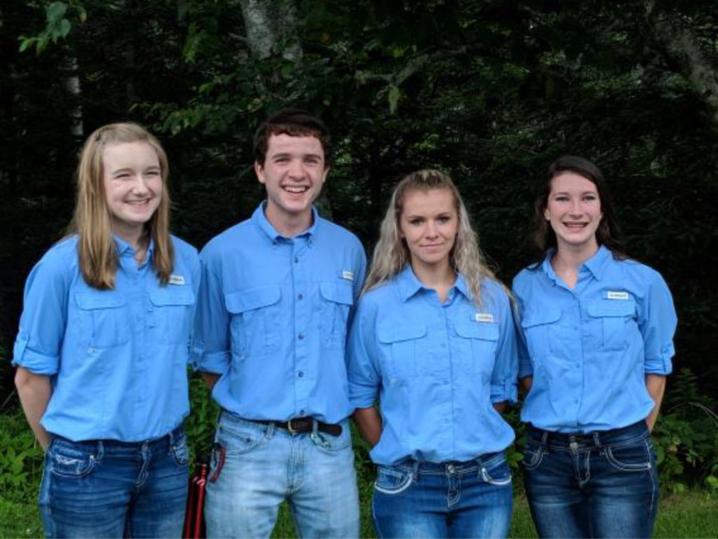 Rocky Top on Top!! Lincoln County 4-H Wildlife Judging Team are National Champions - Pictured L-R: Zoe Cowan, Ben Fisk, Chayton Stephens and Sophie Buck