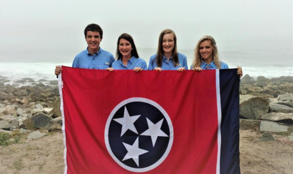 Rocky Top on Top!! Lincoln County 4-H Wildlife Judging Team are National Champions - Pictured L-R: Ben Fisk, Sophie Buck, Zoe Cowan and Chayton Stephens