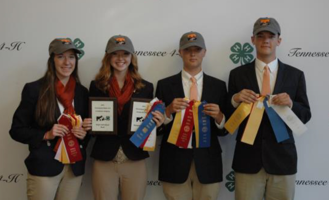 State 4-H Livestock Judging Contest Results - The Lincoln County Livestock Judging team com- prised of: Eli Dotson, Juliann Fears, Kendall Martin and Zach Snoddy took home reserve champion hon- ors. The Lincoln County team is coached by Dan Owen and Jennifer Snoddy.