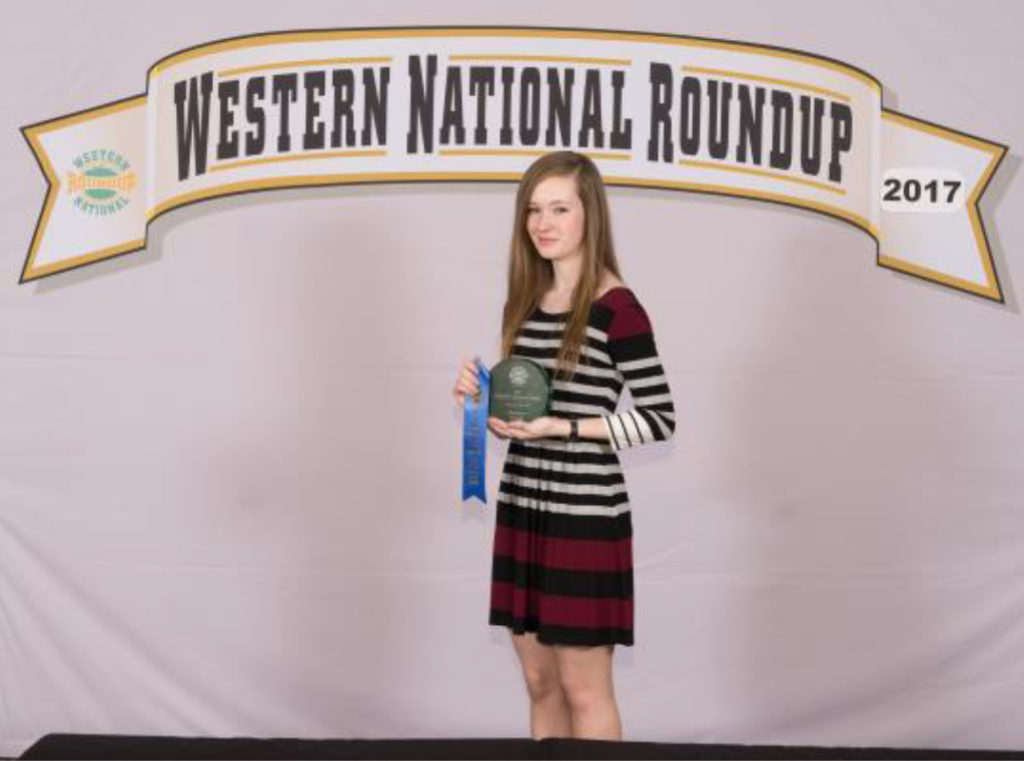 Tennessee Western National Roundup Winner - Carlee Cowan, Lincoln County