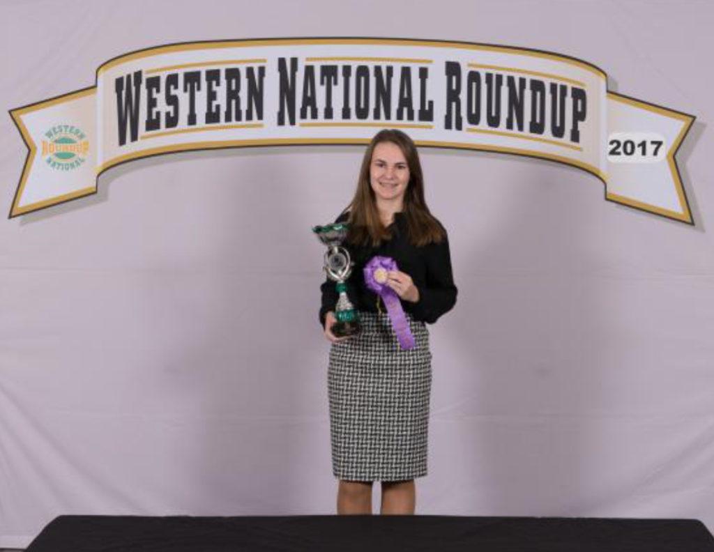 Tennessee Western National Roundup Winner - Hannah Freeland, Knox County