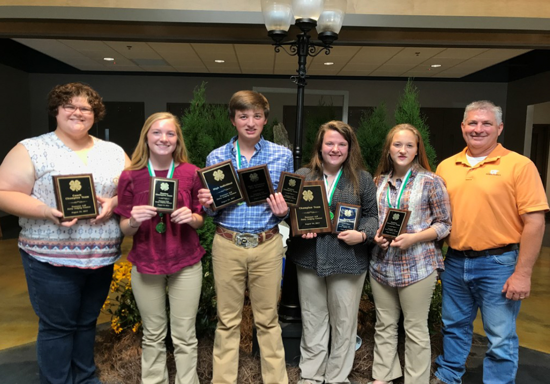 2017 State Dairy Judging Results - The winning team mem- bers included Murray Perkins, Alexis Caldwell, Hannah Hutson and Kara Barn- hart. Murray Perkins won High individual and High individual for Oral Reasons. The team was coached by Ms. Laura Moss. Second place went to the Jefferson County team.