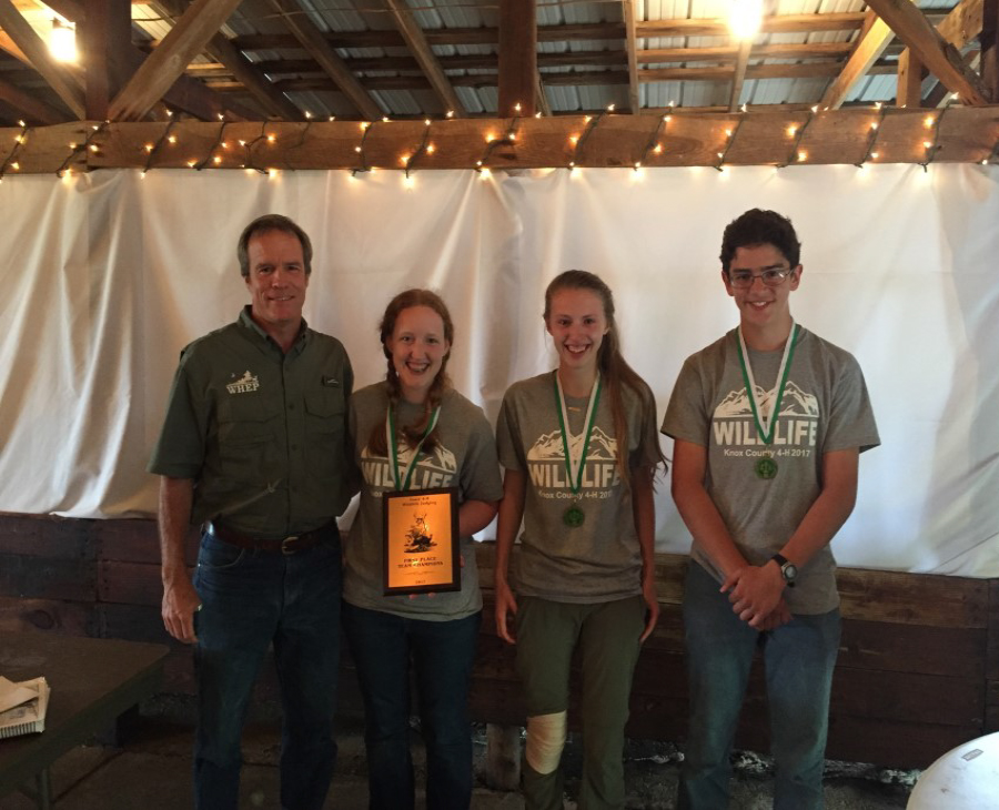 WILDLIFE JUDGING RESULTS - Dr. Craig Harper, Professor, UT Extension; Winning Team, Knox County A: Shelley Griffith; Alec Bissell; Josiah Creech; and Brianna Saylor