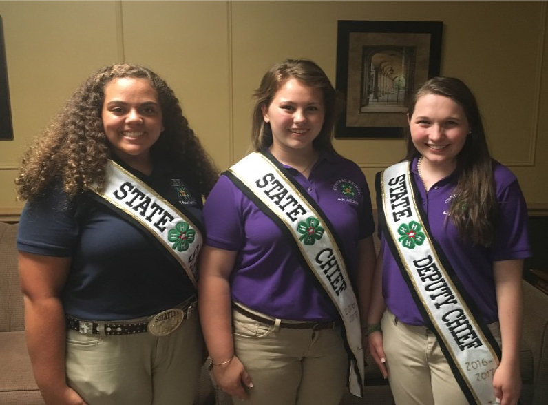 4-H ALL STAR HIGH COUNCIL OFFICERS ELECTED - These new officers are: Chief – Emily Nave, Rutherford County, Deputy Chief – Shelby Mainord, Putnam County Scribe – Shaylyn Melhorn, Morgan County