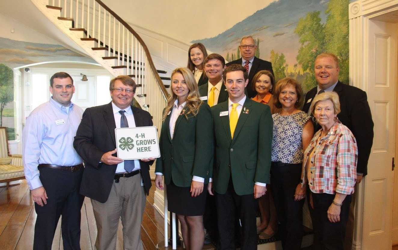 4-H Ambassador Tour - Attendees included: Ethan Harville, President, Fentress County Jacob Butler,Vice-President, Henderson County Luci Allen, Chief, Macon County Hannah Reeves, Greene County Ashley Haylett, Senior Representative,Williamson County