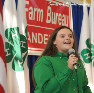 Anderson County 4-H Agriculture Hall of Fame - Lily Vandagriff