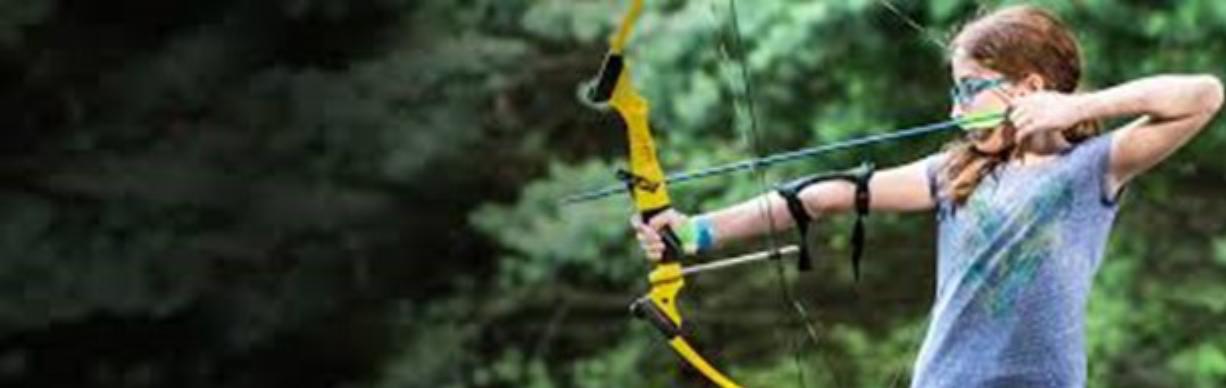 4-H Girls Learning Archery