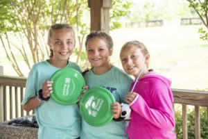Three 4-Hers at Clyde M York 4-H Camp