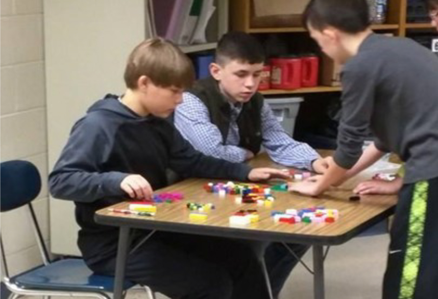 Current Grant Projects - Dyer County HealthRocks! - 3 boys playing with legos