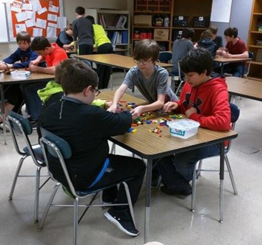 Current Grant Projects - Dyer County HealthRocks! - 14 boys playing with legos