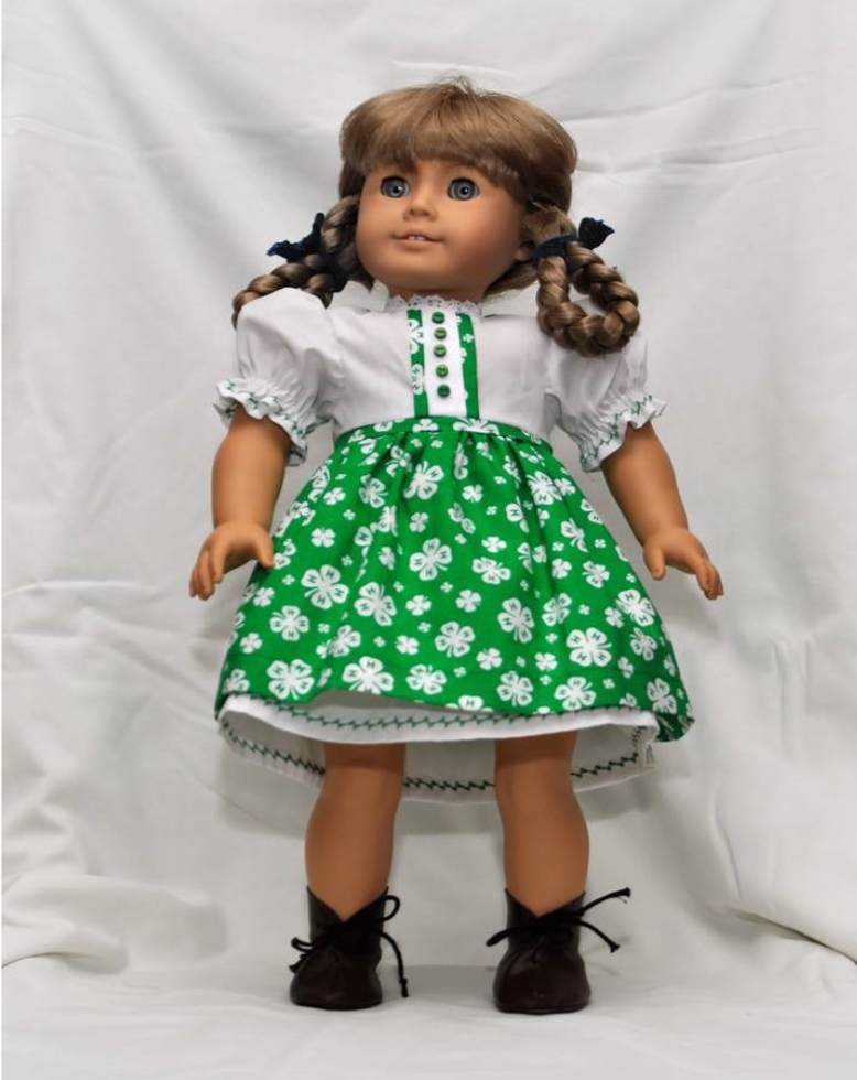 Fulmer's Back - Live Auction - handmade, 4-H dress that will fit an 18 inch American Girl type doll.