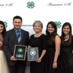 Hale Master 4-H Families Recognized - Standing from left to right, Kassidy, Craig Beasley, Missy Beasley, Kirsten, and Kayleigh