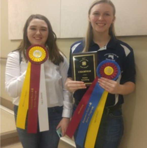 Public Speaking Contest Results - 1 - Emma Graf, Jefferson County 2 - Abby Wheeler, Gibson County 3 - Phoenix Simpson, Tipton County
