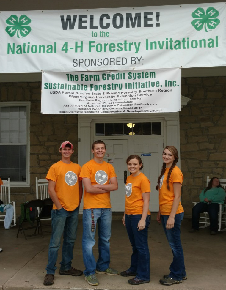 PutnamCounty Competes at National 4-H Forestry Invitational - Team mem- bers included Hannah Steger, Emily Welte, Luke Welte, and Dawsen Arms.