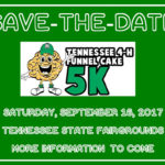 4-H Funnel Cake 5K: Save-the-Date! - Saturday, September 16, 2017, Tennessee State Fairgrounds - More information to Come