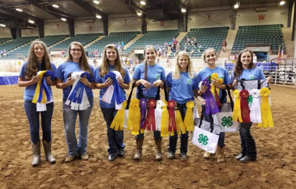 Tennessee 4-H Members Excel at Southern Regional Horse Championships - Sumner county's team of Megan Thornton, Amber Thornton, Georgia Smith and Erin Carver placed third overall in the con- test.