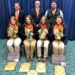 Tennessee4-H Livestock Skillathon Team Competes at NAILE - The team consisted of Emily Johnson of Loudon Co., Emily Nave of Rutherford Co., Kaitlin Taylor of Wilson Co., and Keri Beth Cox from Bradley Co.