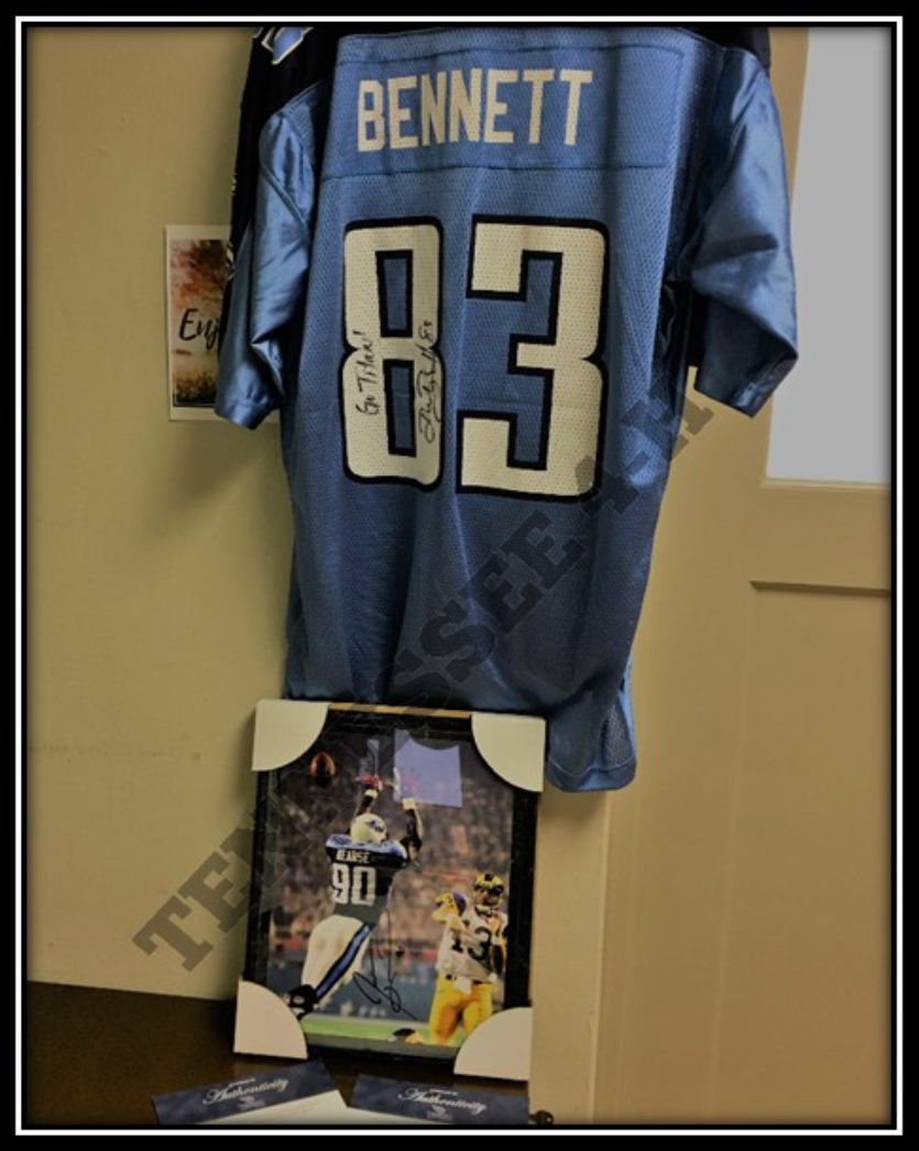 Signed Titan's GearAuction on Tennessee 4-H Facebook Page