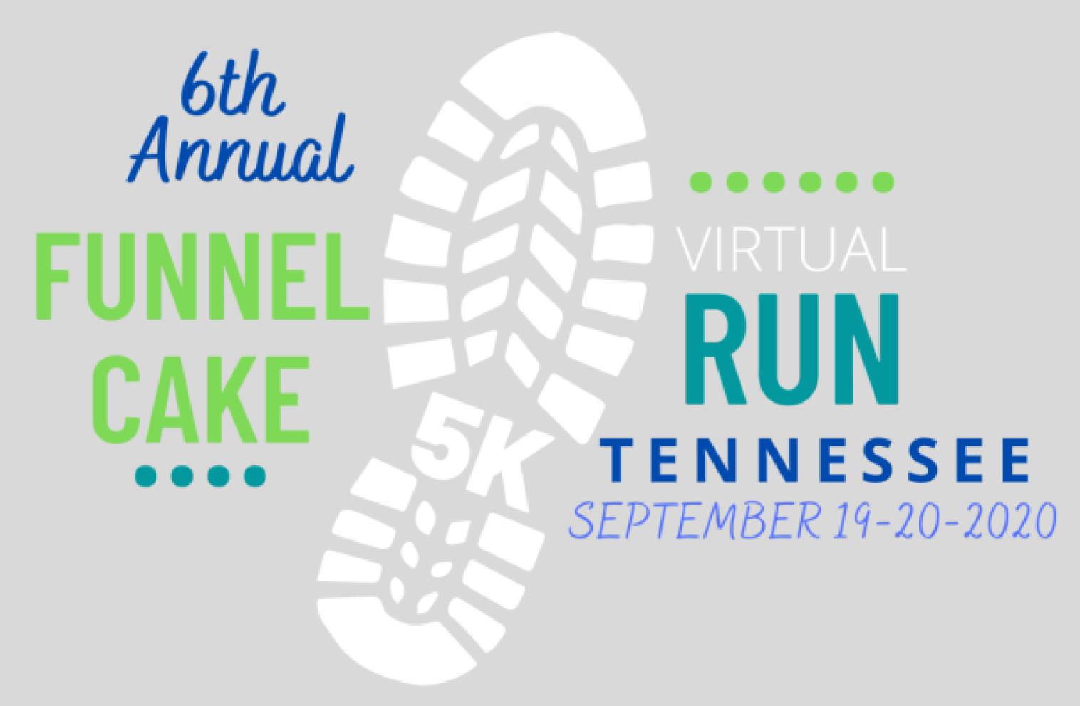 6th Annual Funnel Cake 5K Virtual Run Tennessee