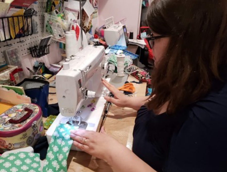 4-H'er from Madison County sewing COVID-19 face masks